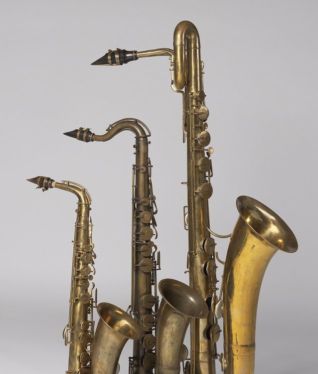 Alto saxophone  Nominal pitch: E♭(Adolphe Sax, Paris, 1856