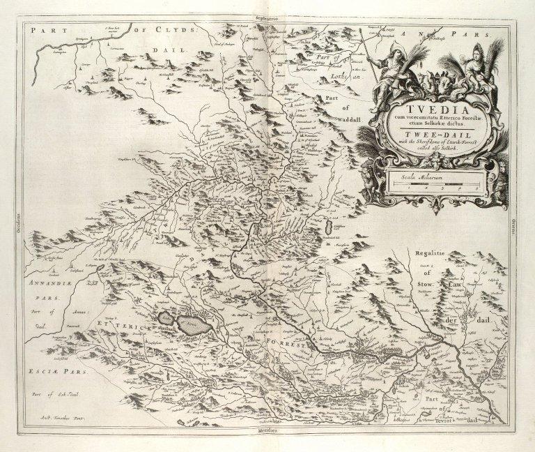 Tvedia cum vicecomitatu Etterico Forestae etiam Selkirkae dictus = Twee-dail [i.e. Tweeddale] with the Sherifdome of Etterik-Forest called also Selkirk [1 of 1]