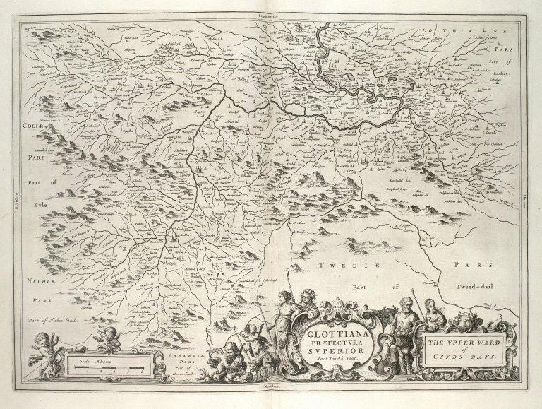 Glottiana Praefectura Superior. The Upper Ward of Clydsdayl. [1 of 1]