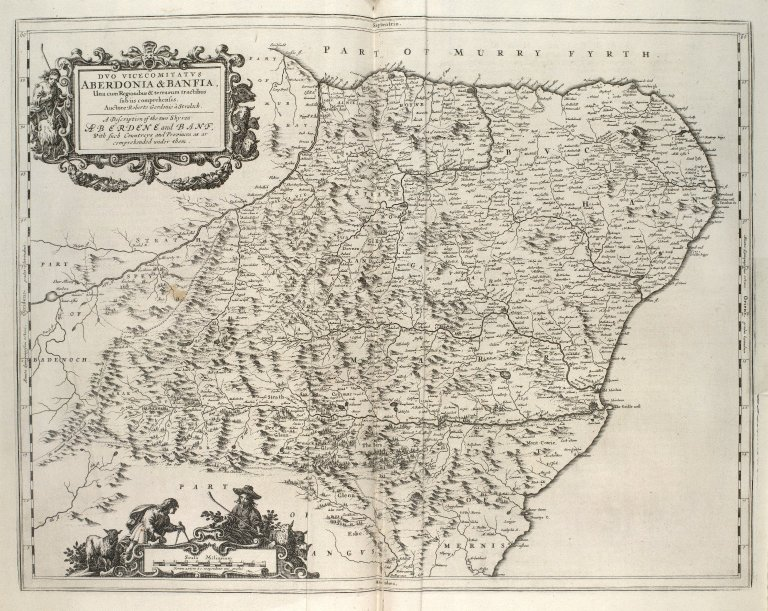 Duo Vicecomitatus Aberdonia & Banfia, Una cum Regionibus & terrarum tractibus sub iis comprehensis. A Description of the two Shyres Aberdene and Banf, With such Countreys and Provinces as ar comprehended under them. [1 of 1]
