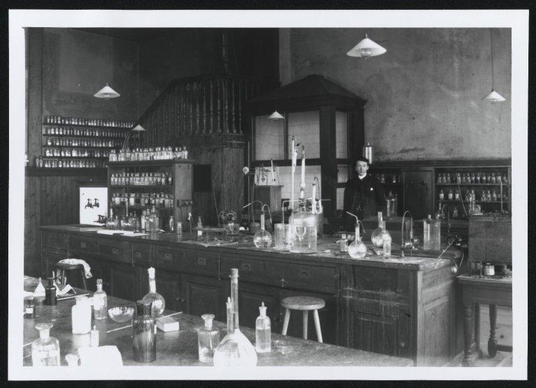 Clerk Ranken in Chemistry Laboratory