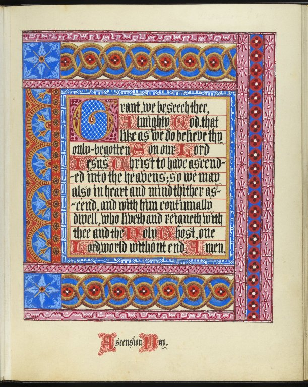 Illuminated calligraphic manuscript by Louisa Mary Freeman