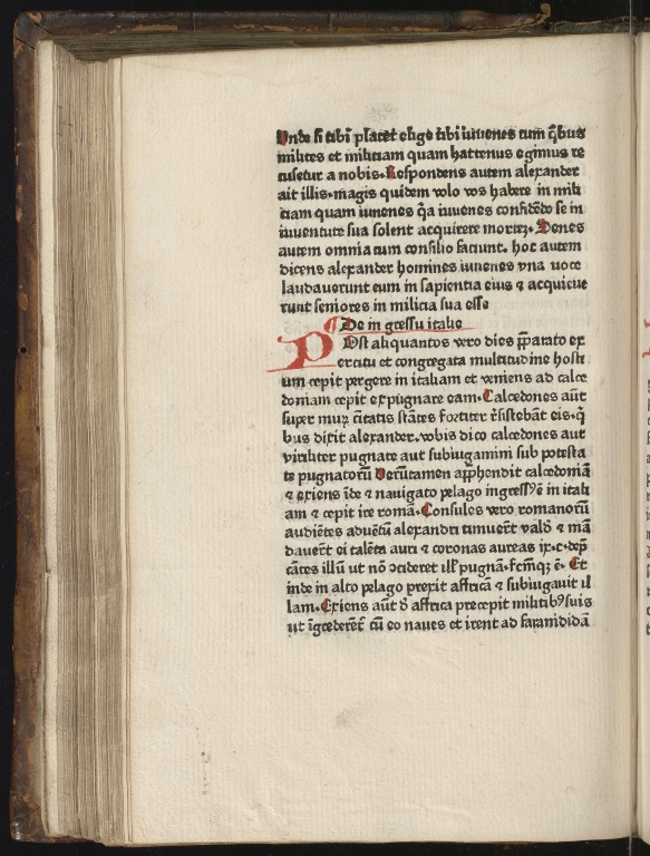 Historia de preliis, Fol.9 verso