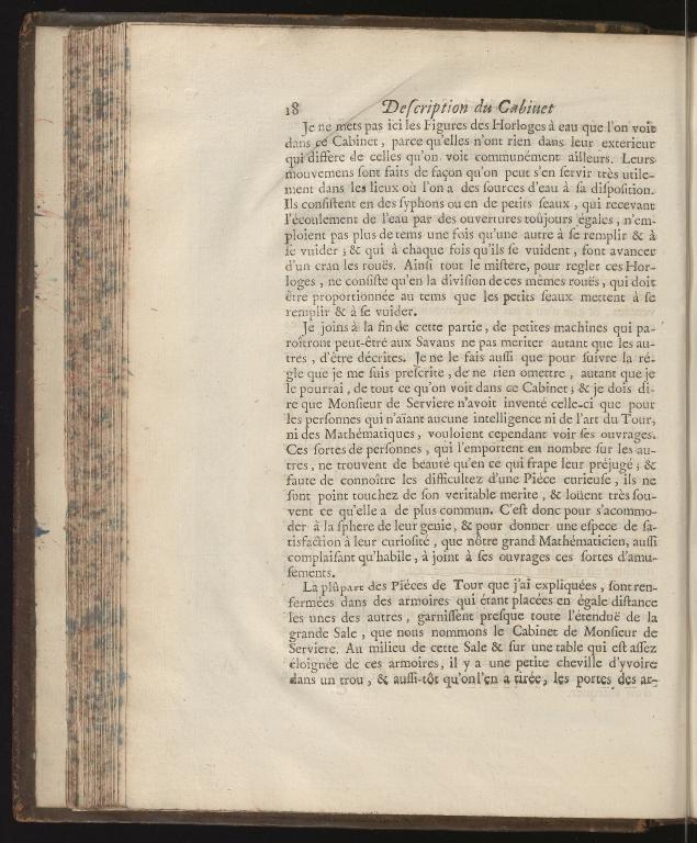 Recueil d'ouvrages curieux de mathematique et de mechanique, ou description du cabinet de Monsieur Grollier de Serviere, p.18