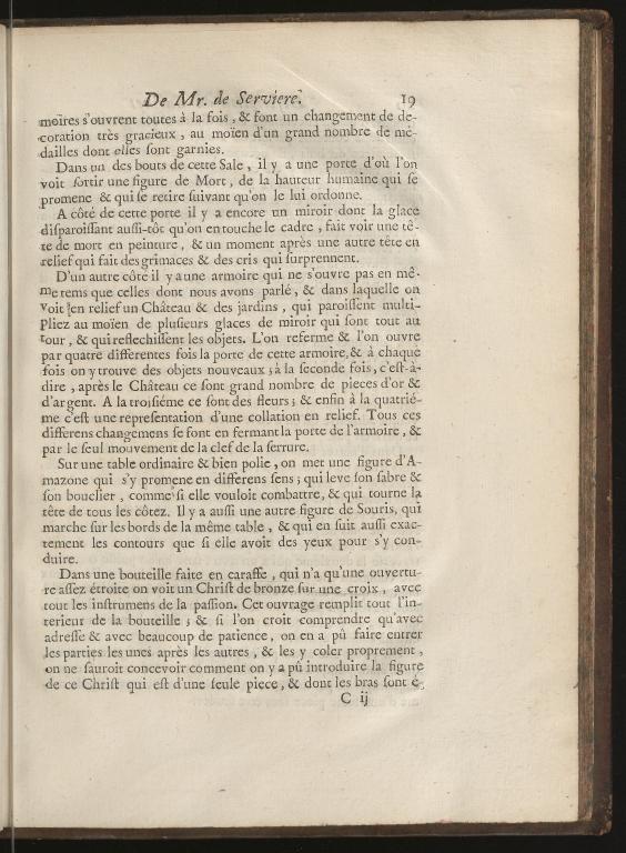 Recueil d'ouvrages curieux de mathematique et de mechanique, ou description du cabinet de Monsieur Grollier de Serviere, p.19