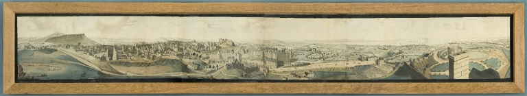Coloured Panorama of Edinburgh