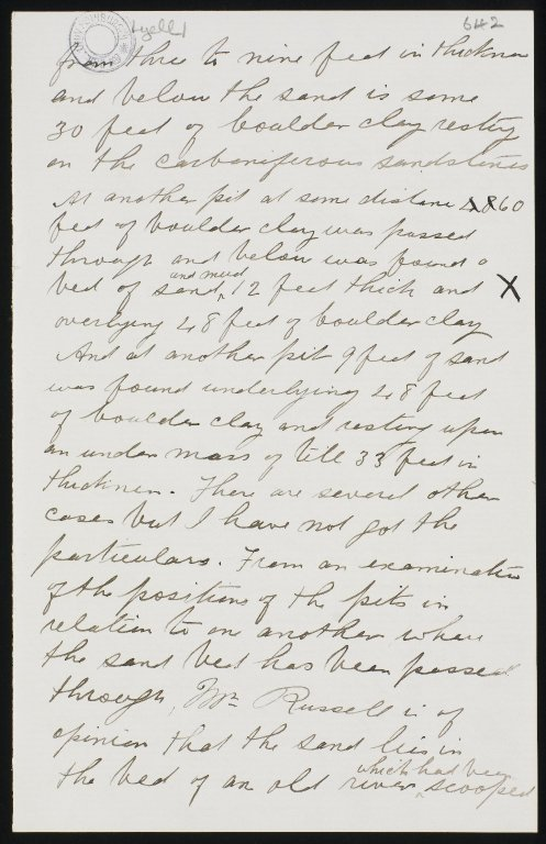 Letters to Sir Charles Lyell, f.642r