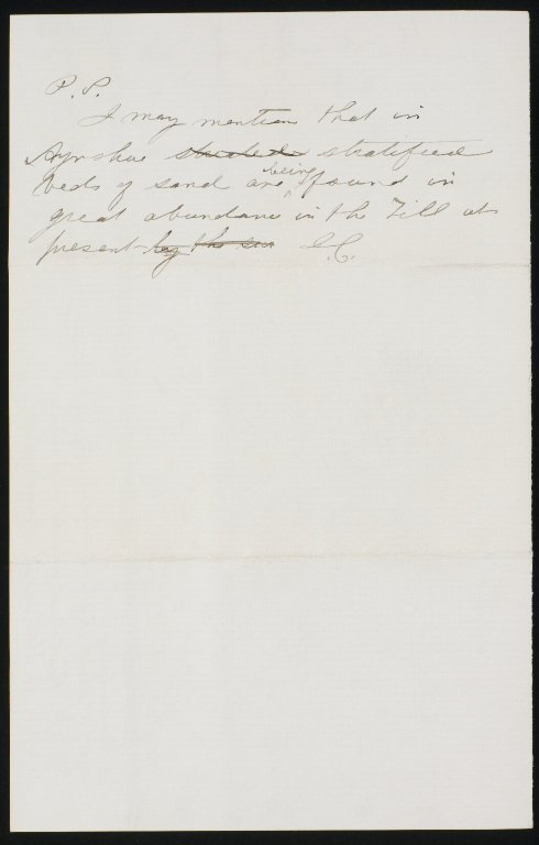 Letters to Sir Charles Lyell, f.643v