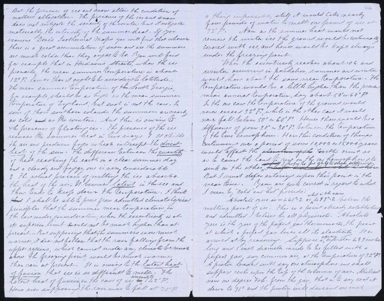 Correspondence of Sir Charles Lyell, Ca-De, 1803-1874 / James Croll, 23 Apr 1865, ff.665v-666r