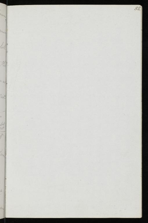 Notebook No.105, Lyell, Charles (Sir) - page p.85