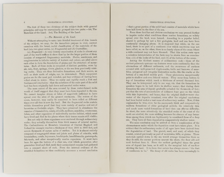 Geographical Evolution Proceedings of the Royal Geographical Soceity July 1879, pp.4-5
