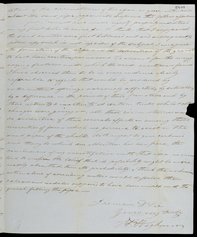 Letter to Sir Charles Lyell, ff.5976-5977
