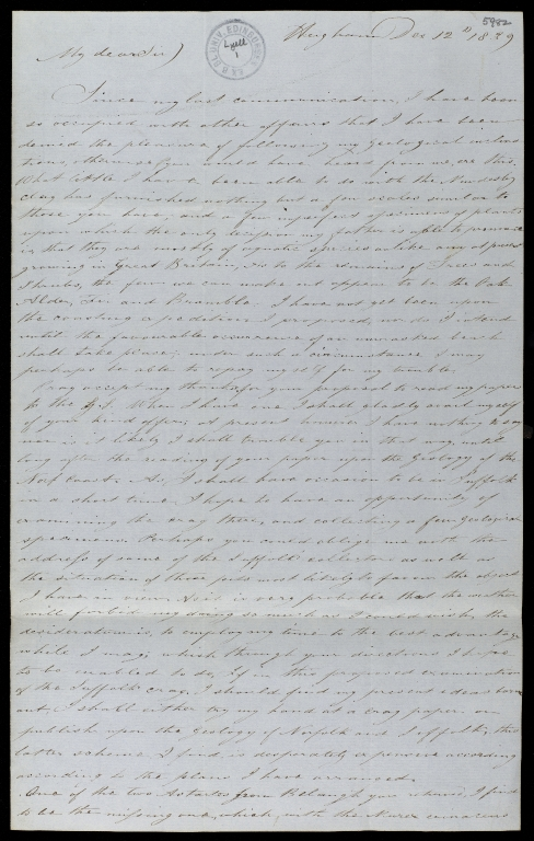 Letter to Sir Charles Lyell, ff.5982-5983
