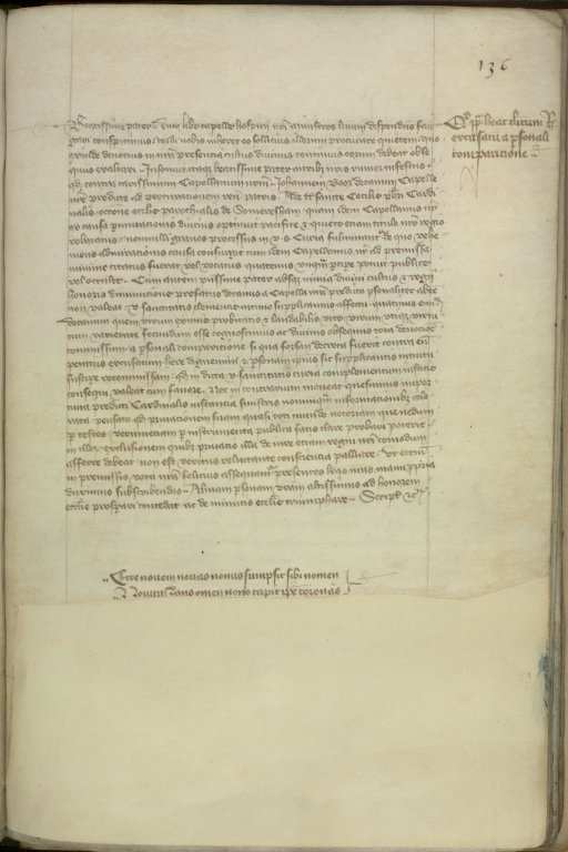 Page from Royal Letter Book (MS 183/f. 136r)