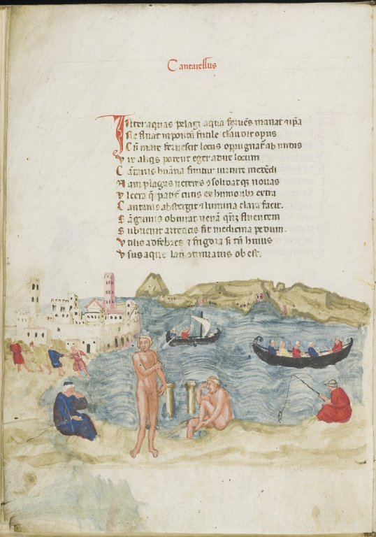 'De balneis Puteolanis' [incomplete], by Peter of Eboli (MS 176)