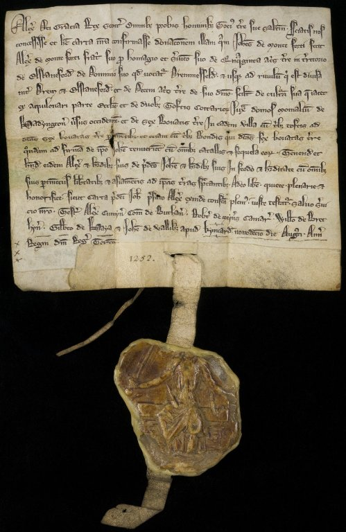 Charter by Alexander III confirming a gift made by John de Monteforti to Alexander de Monteforti