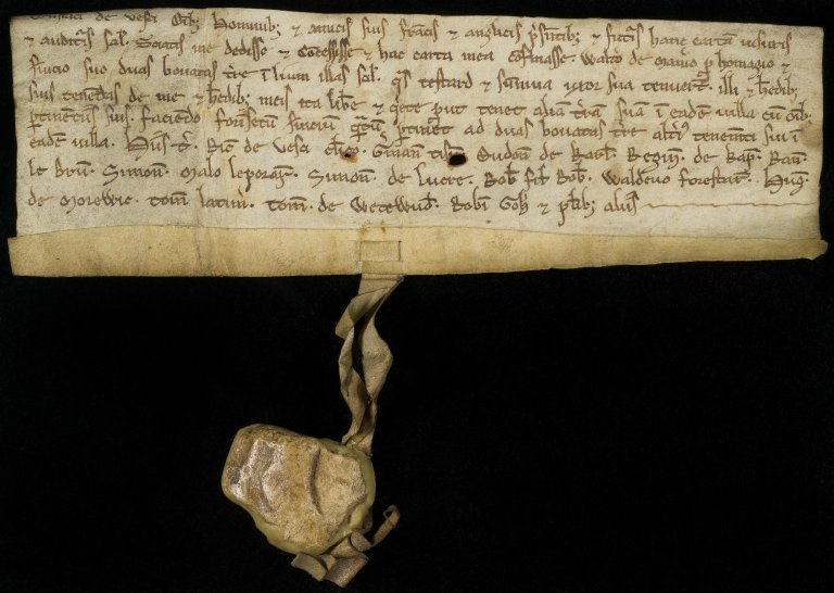 Charter by Eustace de Vesci to Walter of Maner