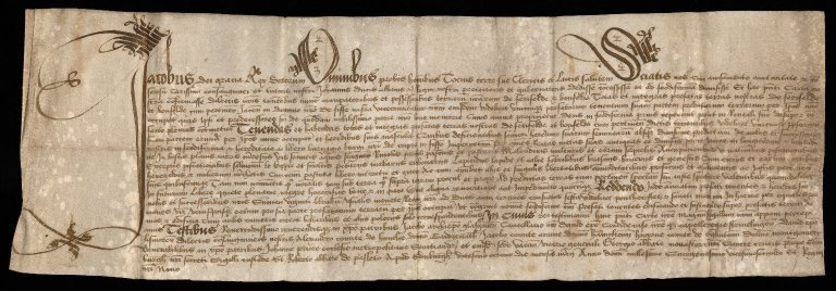 Charter by King James V to the tenants of the crown lands of Ferifelde and Bonfelde, in Fife
