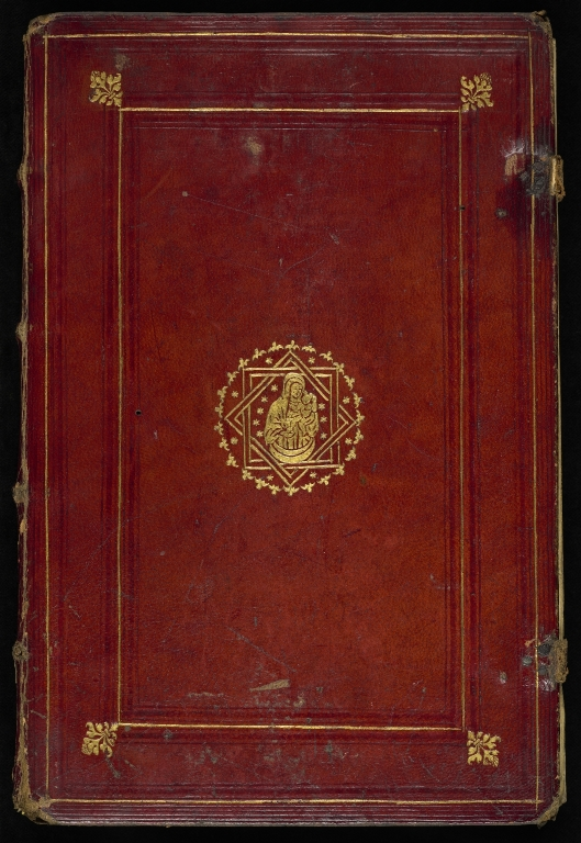 """Front cover of """"Rule of Saint Benedict"""" and various other texts (MS 152)"""