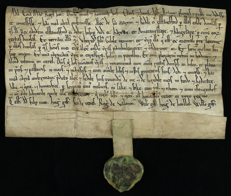 Charter by Countess Ada to Alexander of St.Martin