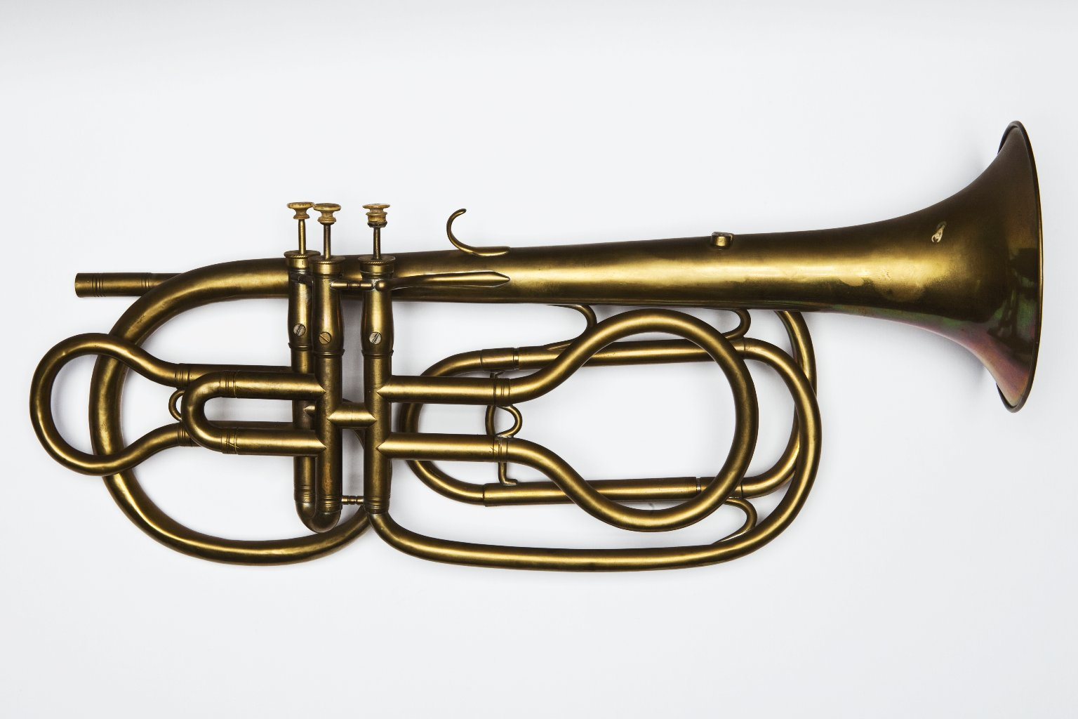 Bass valve trumpet. Nominal pitch: 8-ft C (Courtois neveu aîné) : TOP