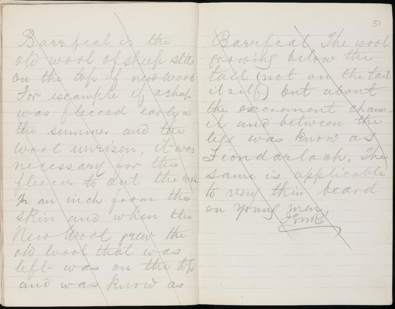 Field Notebook, ff.50v-51r