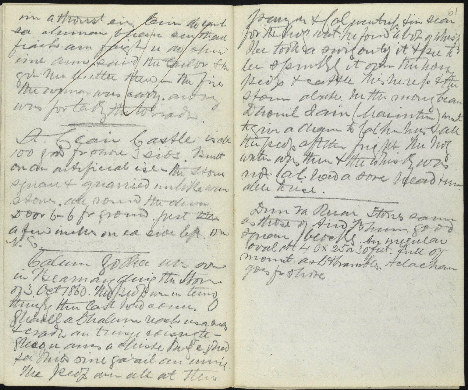 Field Notebook, ff.60v-61r