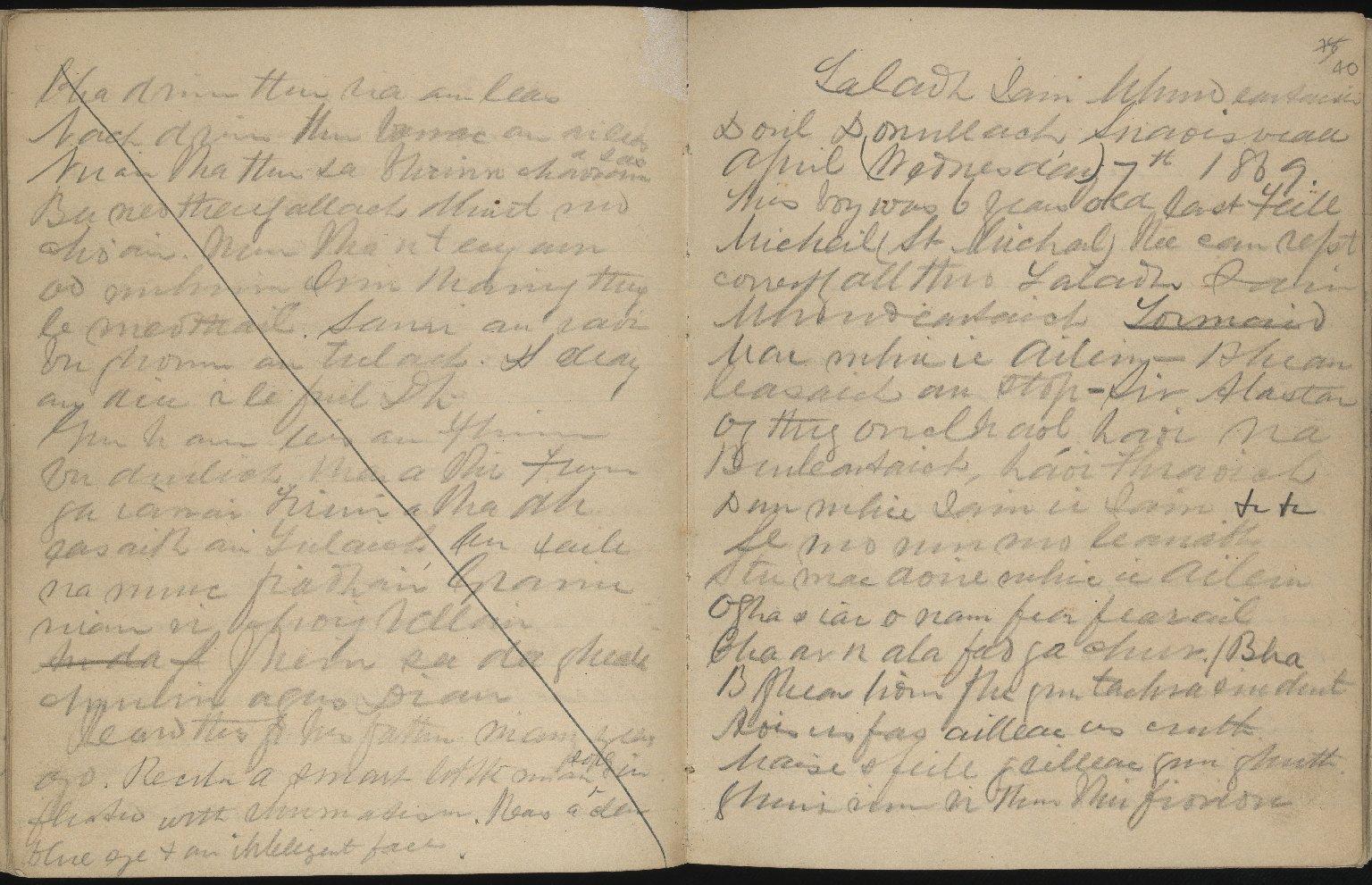 Field Notebook, ff.39v-40r