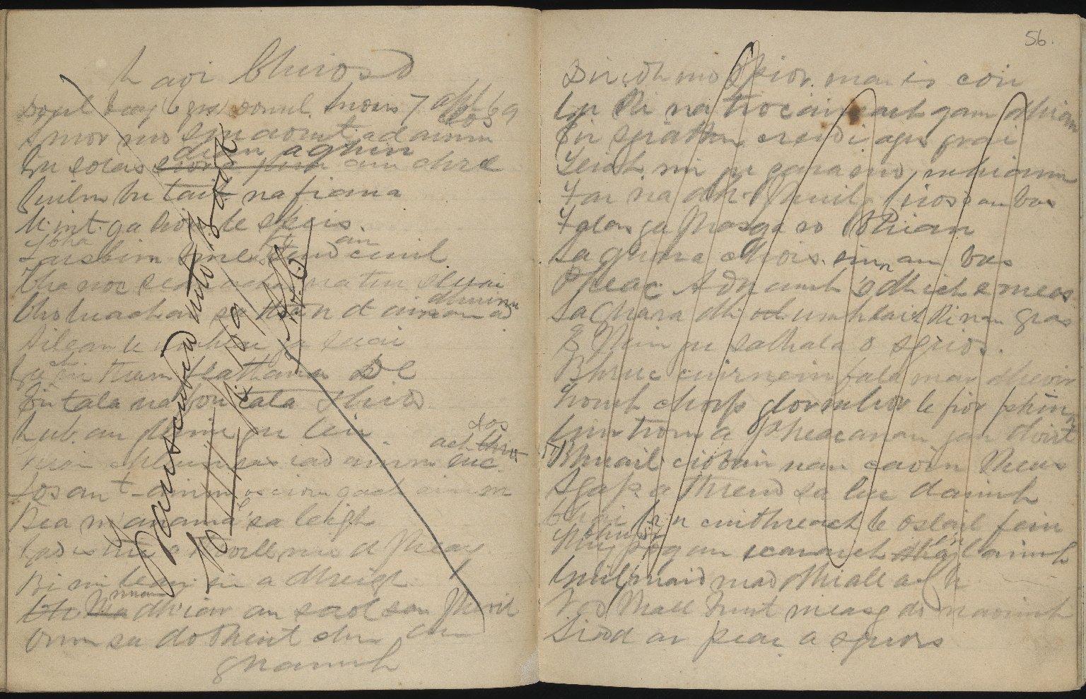 Field Notebook, ff.55v-56r