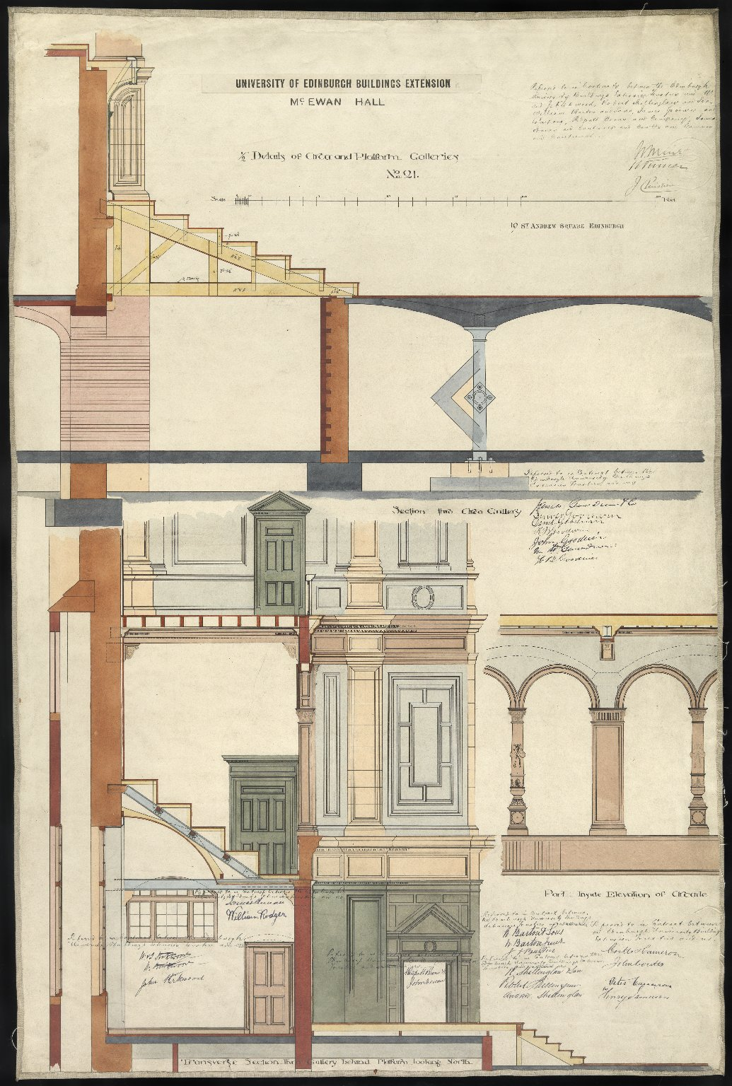 University of Edinburgh Buildings Extension, McEwan Hall, No.101