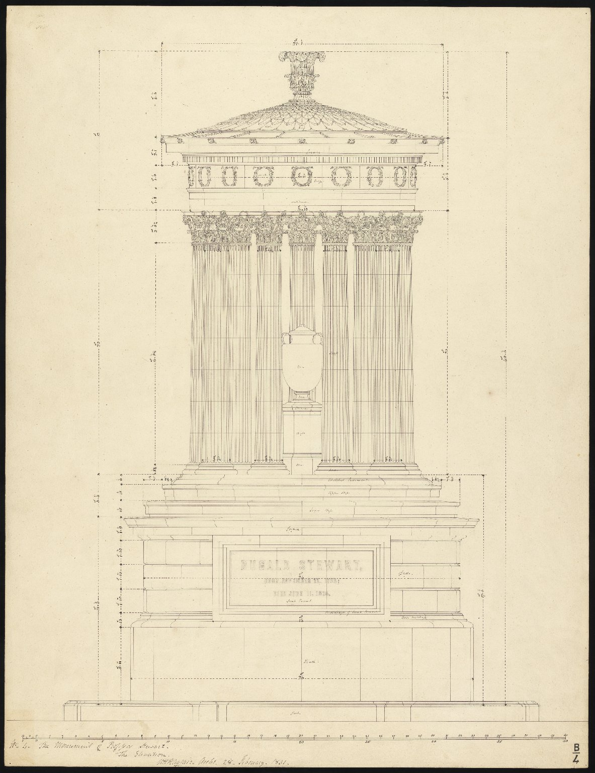 Dugald Stewart Monument, Bases and Capitals, B/4