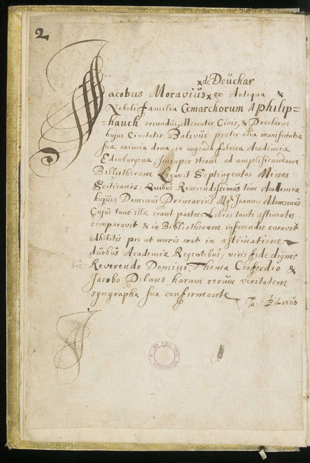 Donations Book, 1667-1824, p.2