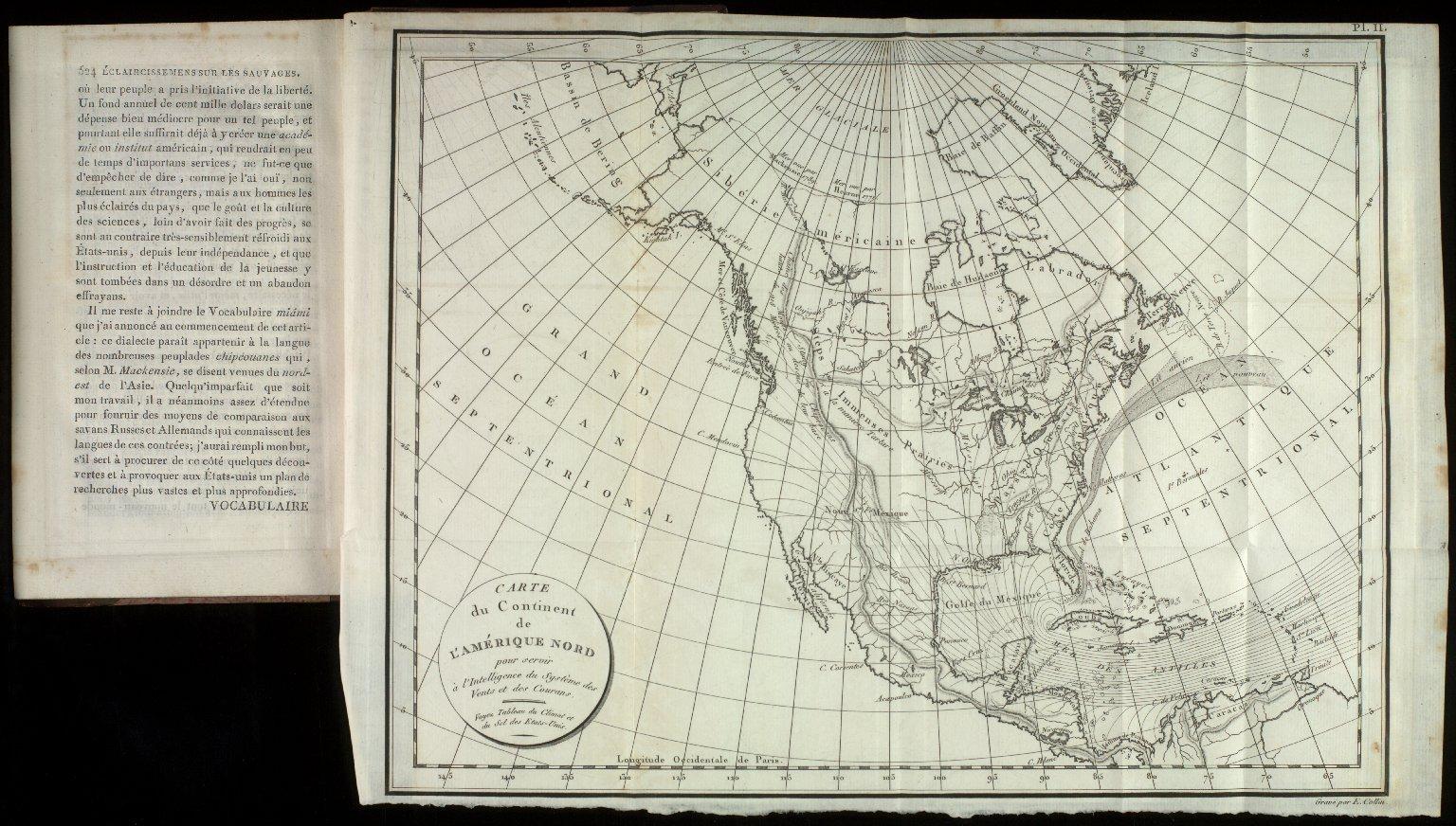 Tableau du Climat et du Sol des E?tats-Unis d'Ame?rique, 1803, pl.II, facing p.524