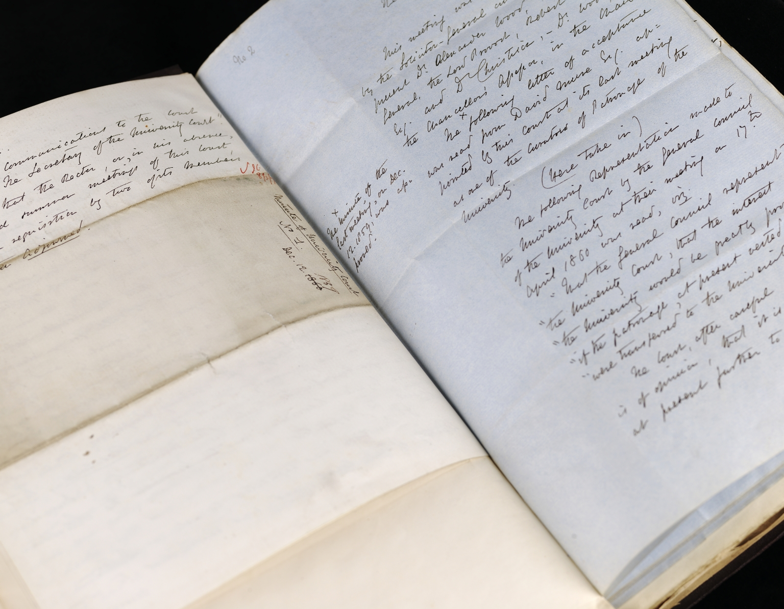 First University Court Minutes, Unpaginated