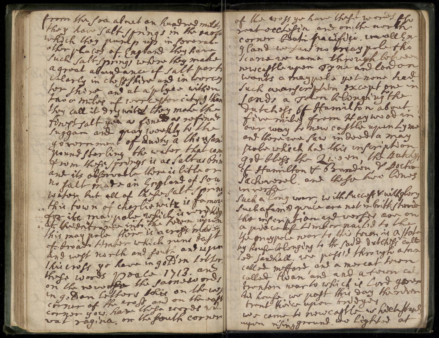 Journal of Mr James Hart, Unpaginated