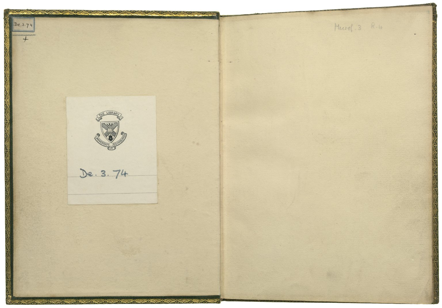 Loves Labours Lost, 1598, Inside front cover & front end paper recto