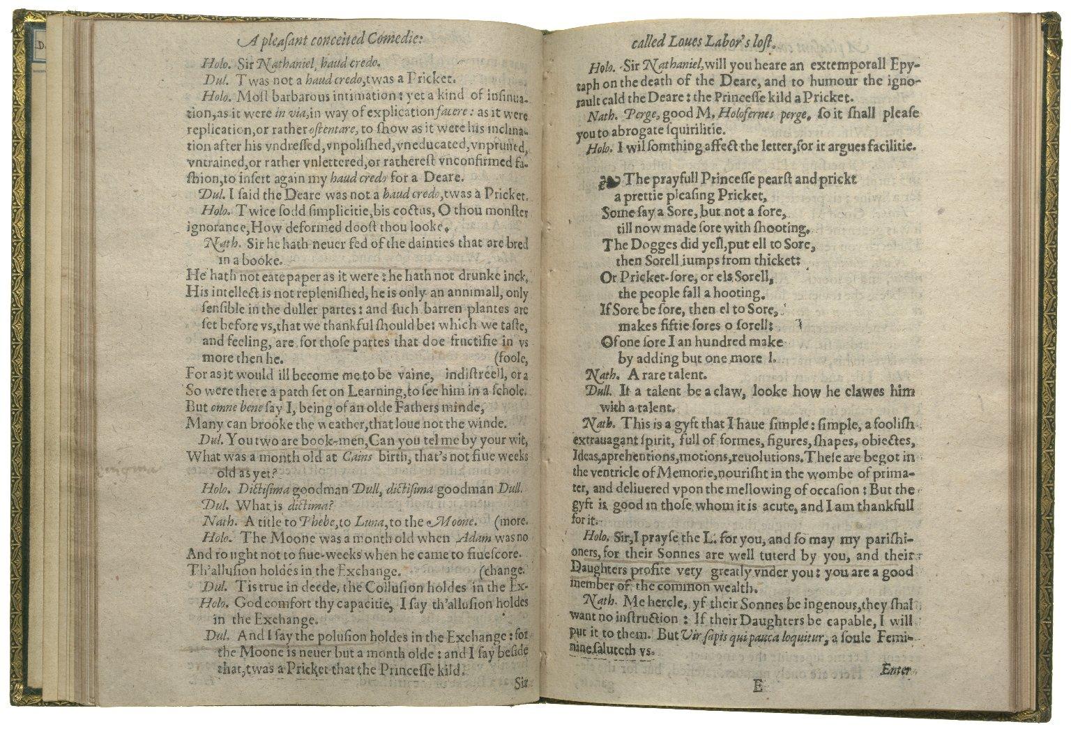 Loves Labours Lost, 1598, ff.16v-17r