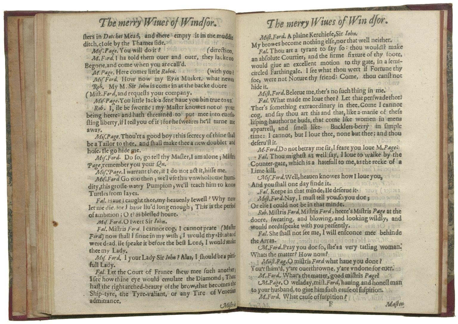 Merry Wives of Windsor, 1630, ff.20v-21r