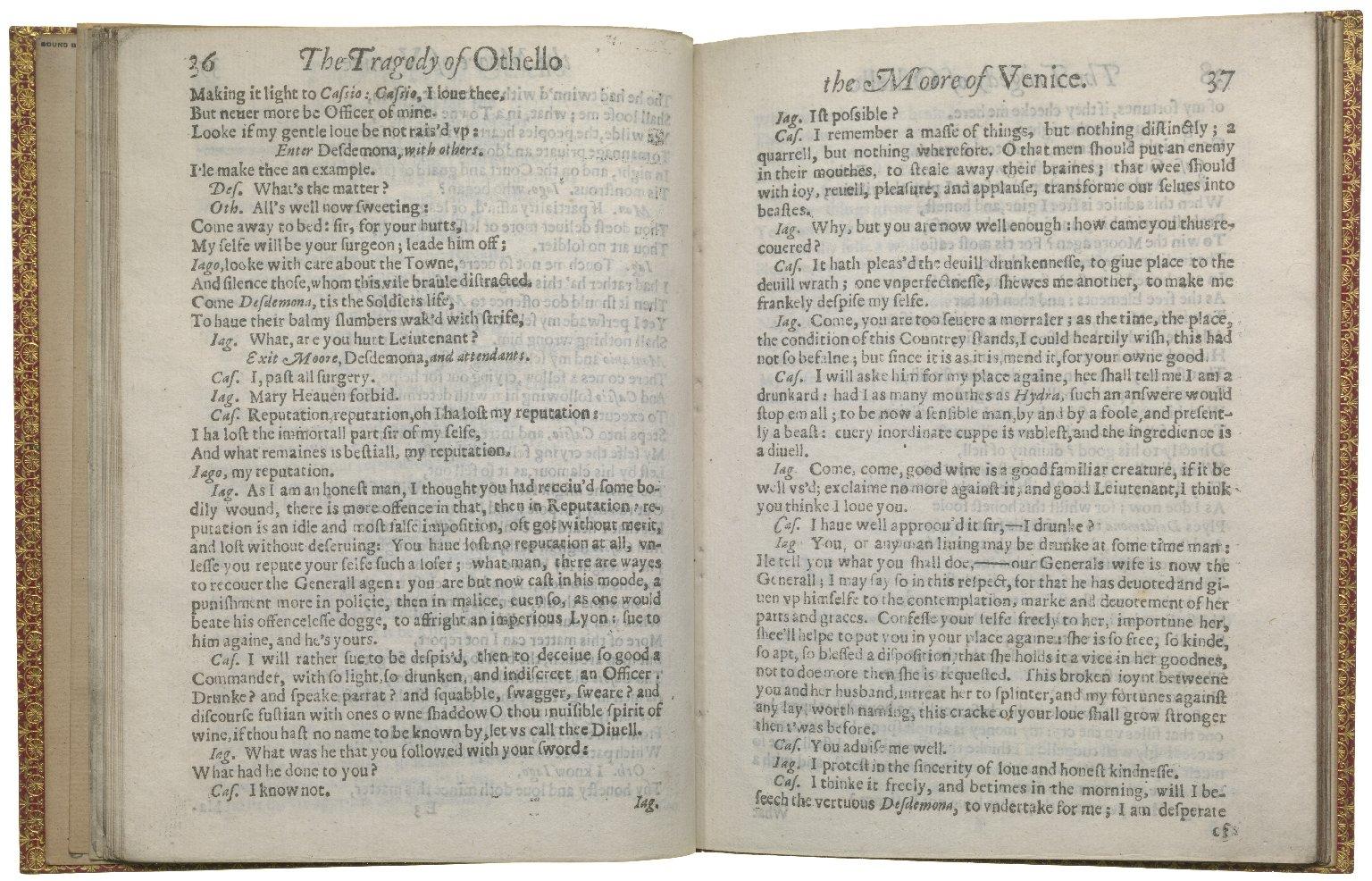 Othello, 1630, ff.20v-21r