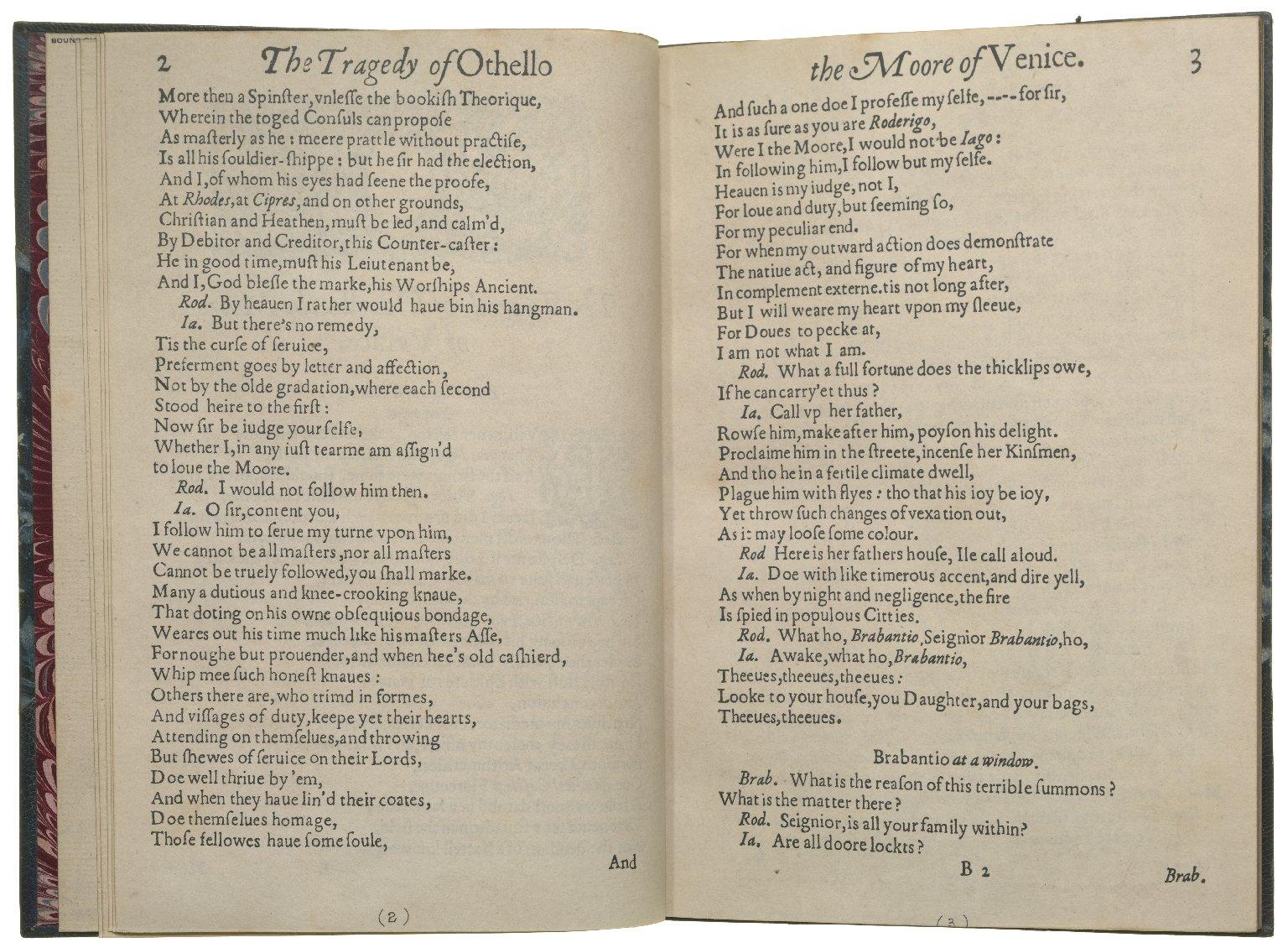 Othello, 1622, ff.3v-4r