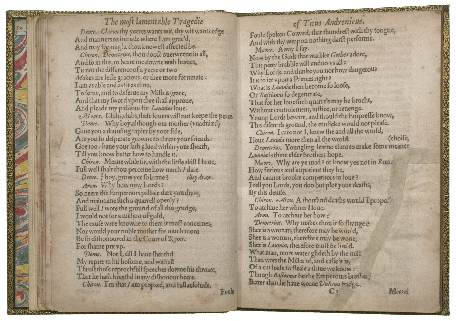 Titus Andronicus, 1600, ff.10v-11r