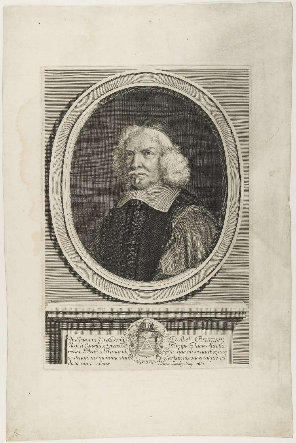 Abel Brunier (1572-1665), French botanist; Physician to the Duke of Orleans