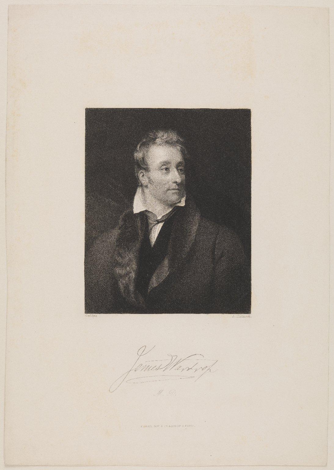 James Wardrop (1782-1869), M.D. St Andrew's, F.R.C.S. London and Edinburgh; Surgeon to George IV