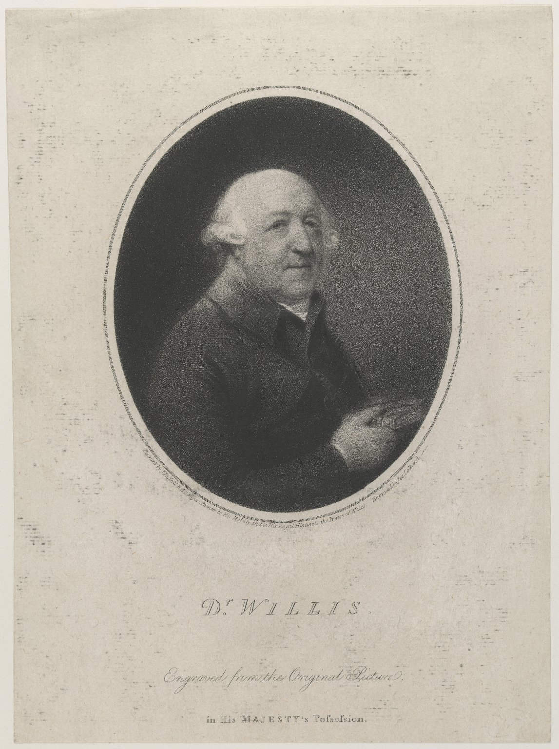 Francis Willis (1718-1807), D.D., M.D., F.R.C.P., Alienist; attended George III.