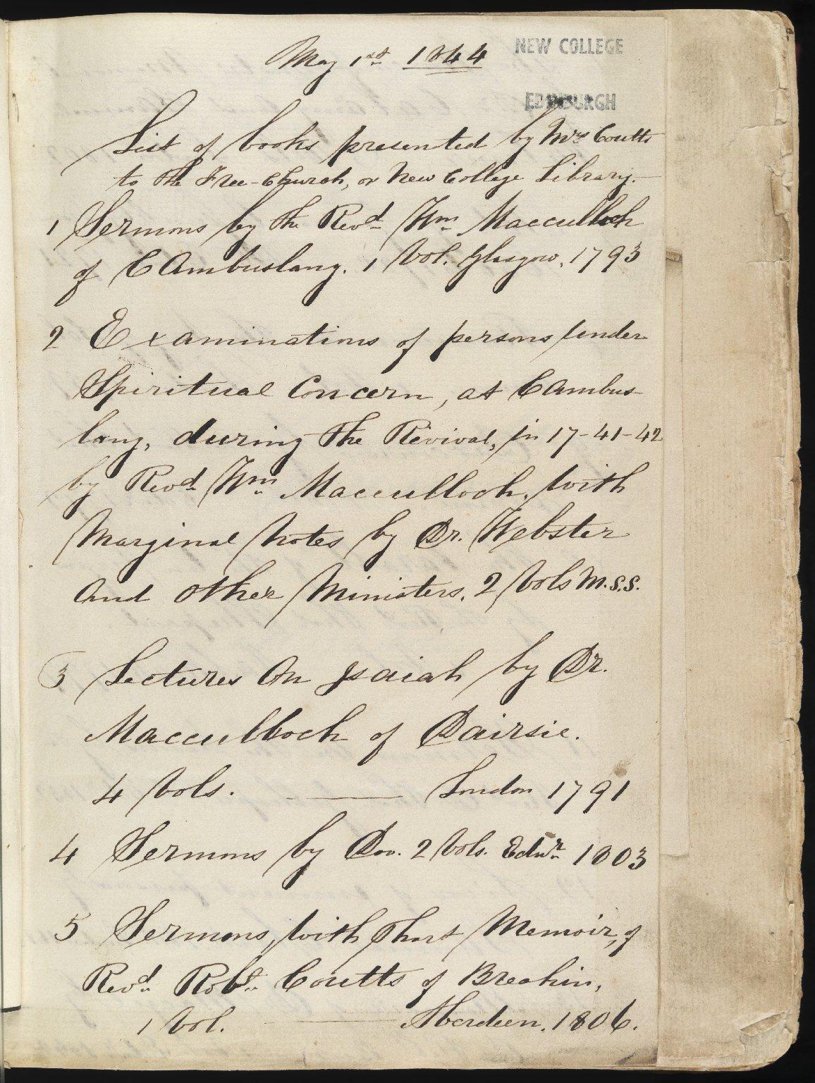 Examination of Persons Under Spiritual Concern at Cambuslang, 1741-42, Unpaginated