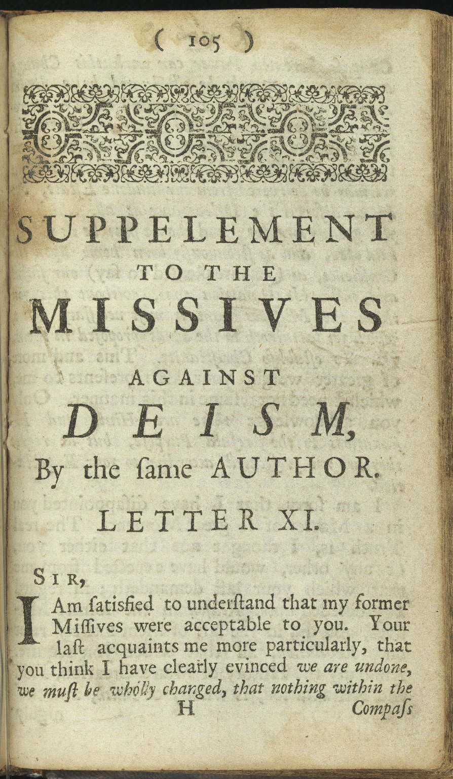 Some Missives Written to a Gentleman, 1718, Pamphlet 11, p.105