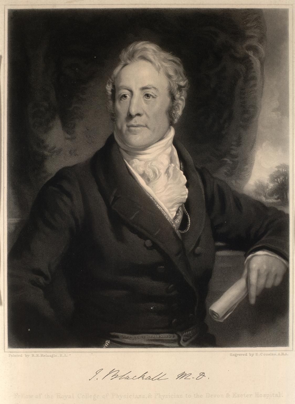 John Blackall (1771-1860), Physician to the Devon and Exeter Hospital