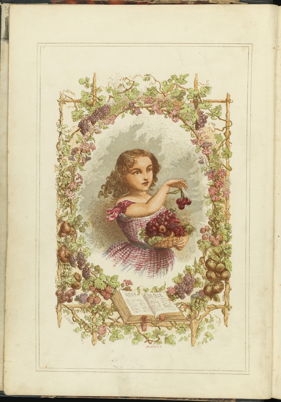 Illustrated Songs and Hymns, 1st Frontispiece