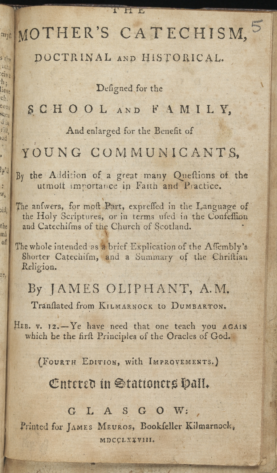 The mother's catechism doctrinal and historical, Title page