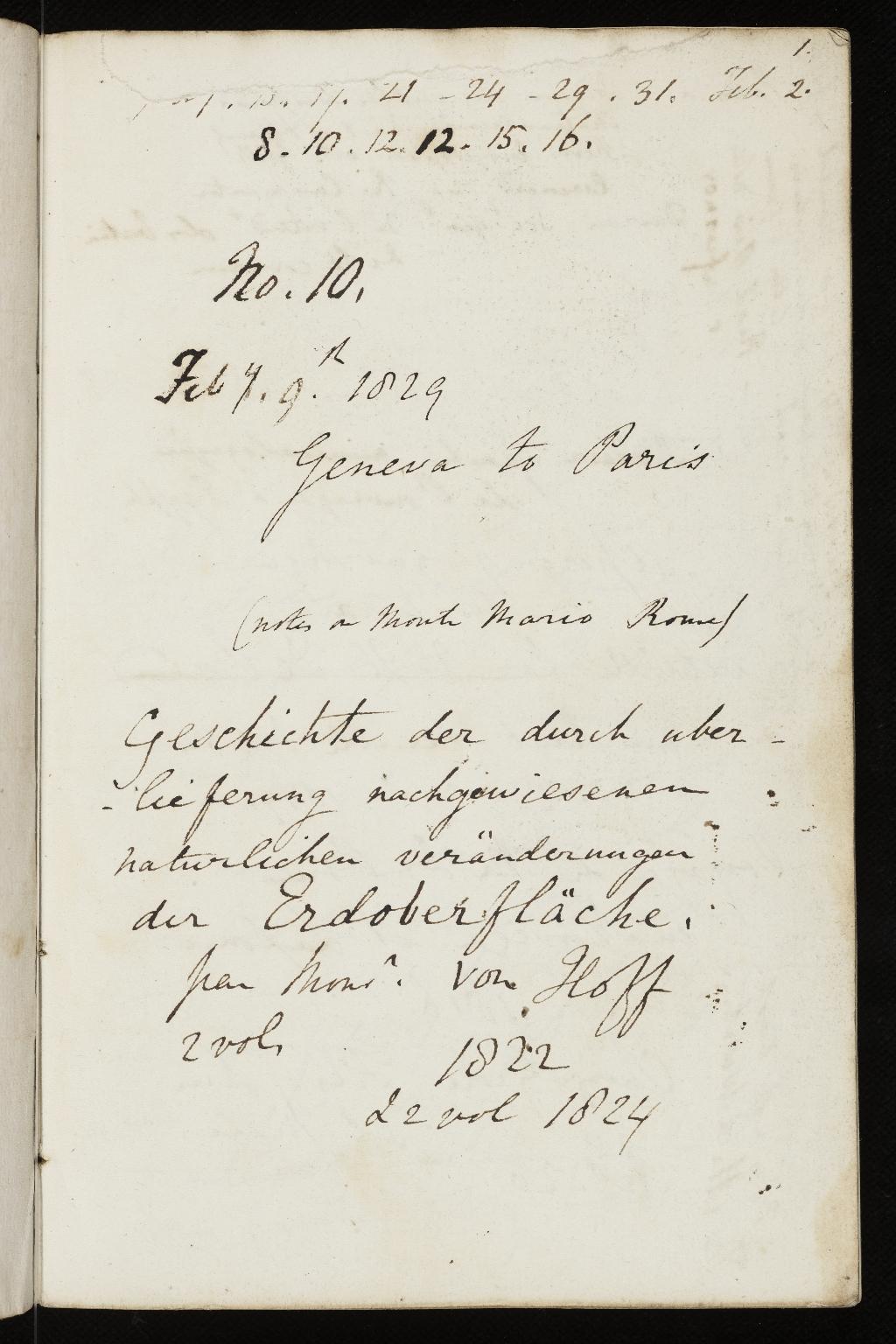 Notebook No.23, Lyell, (Sir) Charles - page p.1